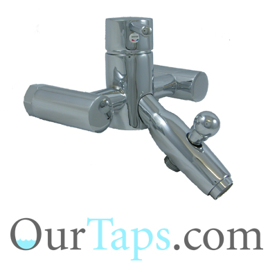 WALL MOUNTED SINGLE LEVER BATH SHOWER MIXER TAPS