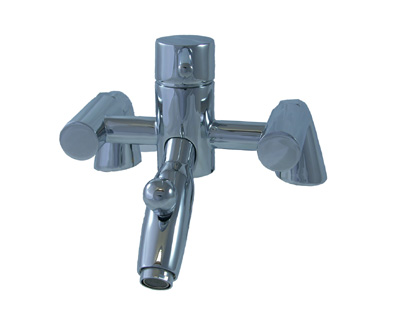 DECK MOUNTED SINGLE LEVER BATH SHOWER MIXER TAPS
