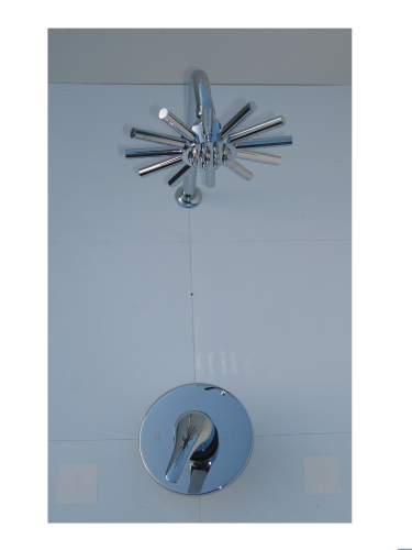 CONCEALED MANUAL MIXER SHOWER SET WITH WALL MOUNTED STAR HEAD