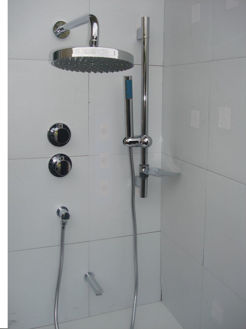 3 Way Thermostatic Valve Bath Amp Dual Round Style Shower