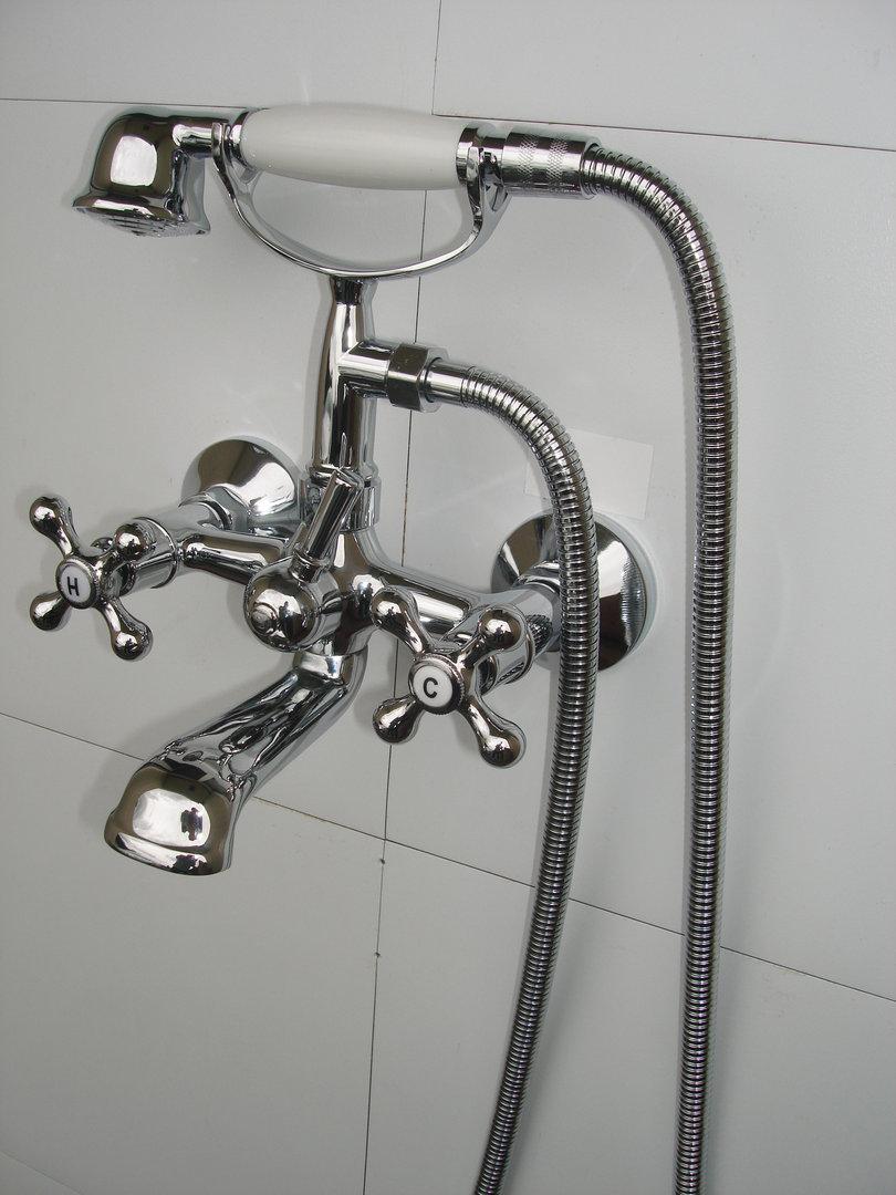 WALL-MOUNTED BATH SHOWER & BASIN MONO MIXER TAPS