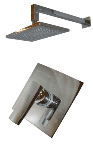SQUARE STYLE CONCEALED MANUAL MIXER SHOWER SET