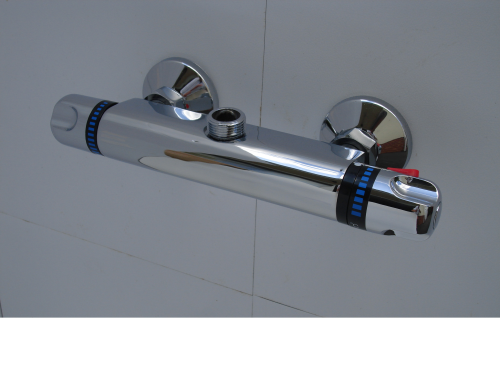 "EXPOSED TORPEDO STYLE THERMOSTATIC BAR SHOWER VALVE, 3/4""BSP TOP FACING OUTLET"