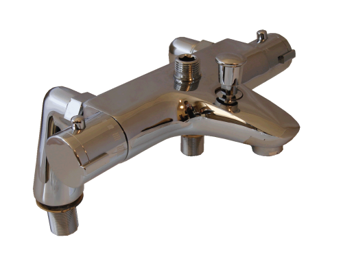 DECK MOUNTED THERMOSTATIC BATH/SHOWER TAPS (UPWARDS SHOWER OUTLET)