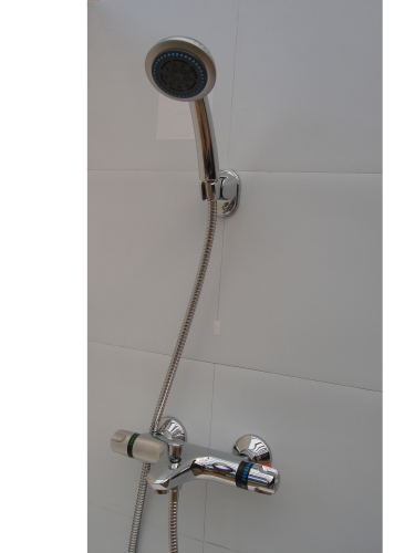 Wall mounted Thermostatic Shower Mixer, Multi spray Head & Hose