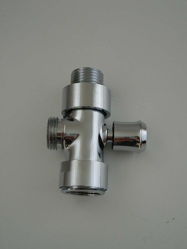"Diverter Shower Valve and Adaptors for 1/2"" Inlet and Outlets"