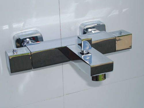 SQUARE STYLE WALL MOUNTED THERMOSTATIC BATH/SHOWER TAPS