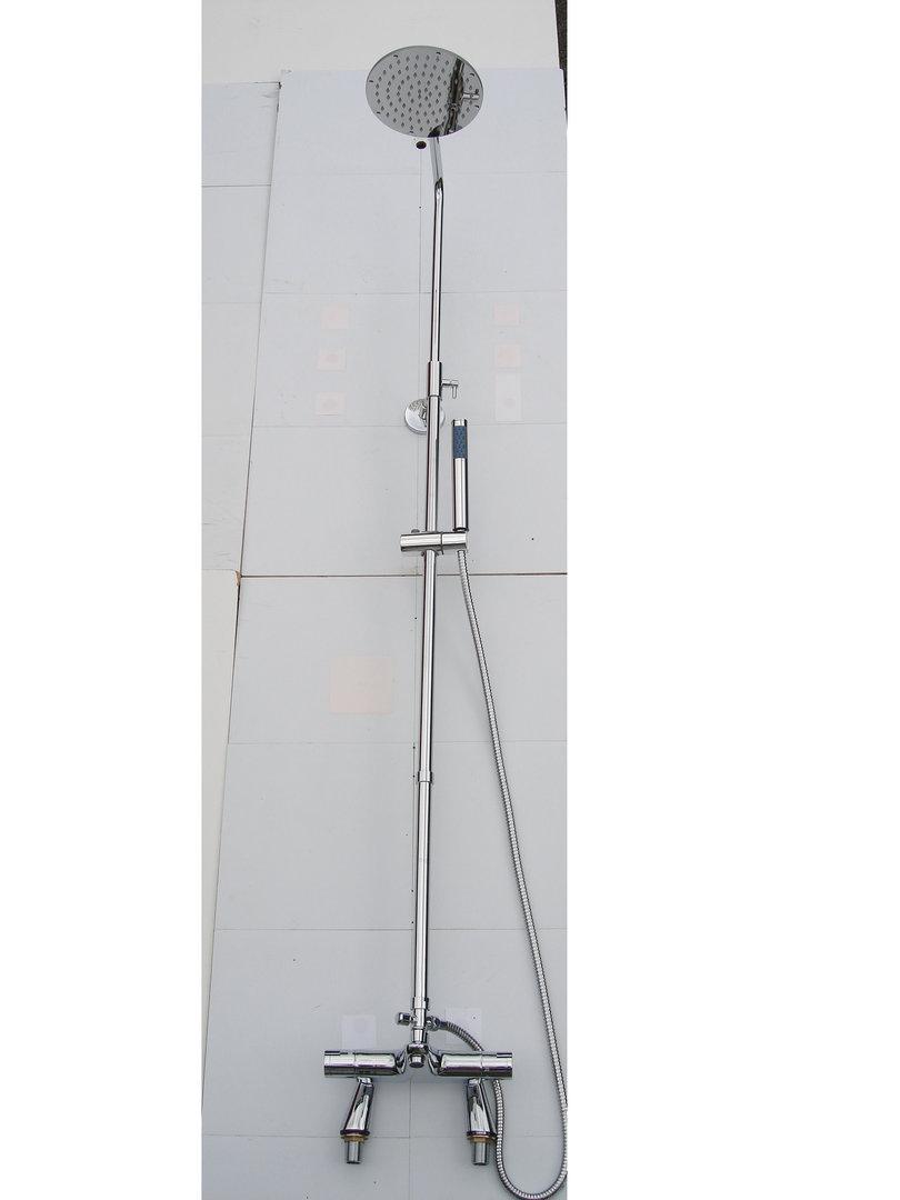 deck thermostatic bath shower mixer taps rigid riser stroma thermostatic bath shower mixer tap toolstation