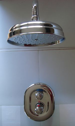 CONCEALED THERMOSTATIC MIXER SHOWER SET WITH TRADITIONAL WALL MOUNTED RAIN HEAD