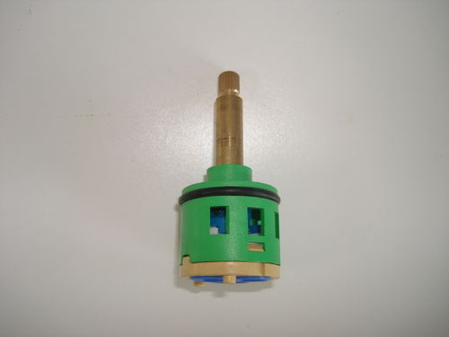 2 Way 3 Hole On/Off Water Flow Control Ceramic Disc Cartridge for 046 & 063 Showers - 36.5mm Shaft