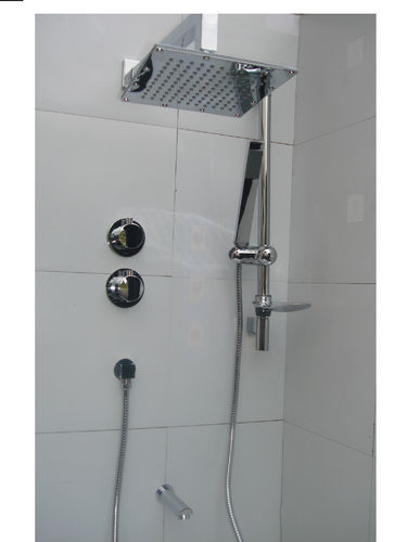 3 WAY THERMOSTATIC VALVE, BATH & DUAL SHOWER SET