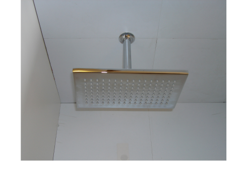 "Rectangular Shower Head & 4"" Ceiling Mounted Arm"