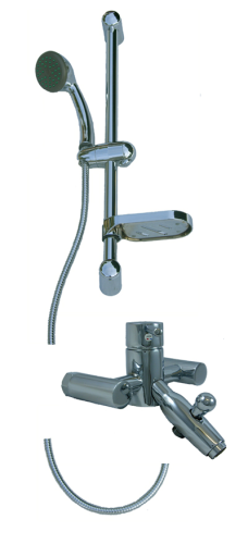 Bath Shower Mixer Taps & Adjustable Shower Set