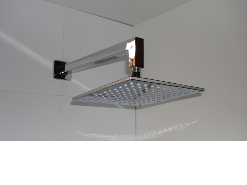 Square Slimline Shower Head & Wall Arm