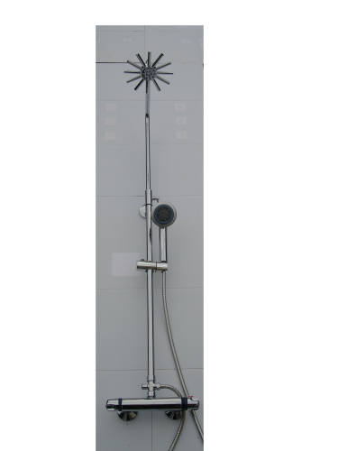 EXPOSED THERMOSTATIC RISER SHOWER WITH STAR SHOWER HEAD