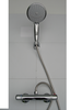 EXPOSED THERMOSTATIC SHOWER BAR VALVE WITH LARGE HANDHELD SHOWER SET