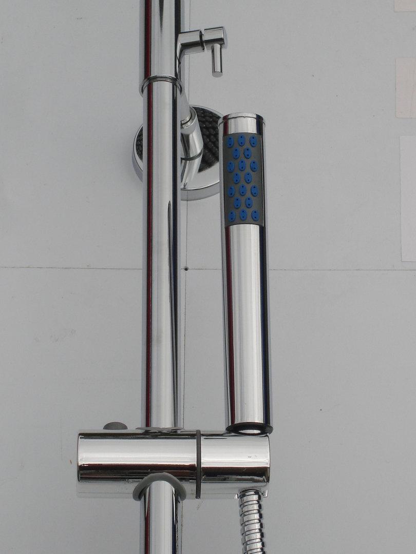 Deck Thermostatic Bath Shower Mixer Taps Rigid Riser